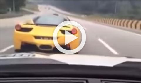 Vídeo: espectacular carrera ilegal de deportivos en Malasia
