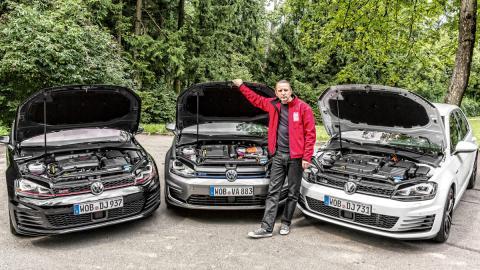 Comparativa Volkswagen Golf GTI/GTD/GTE