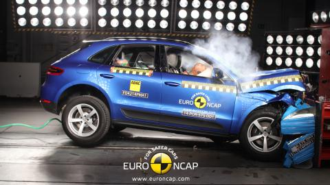Porsche macan crash test' Euro NCAP