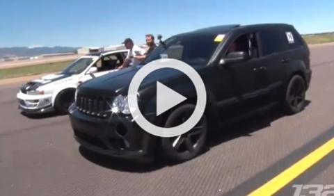 ¡Locura! Un Jeep Grand Cherokee preparado humilla a un GT-R