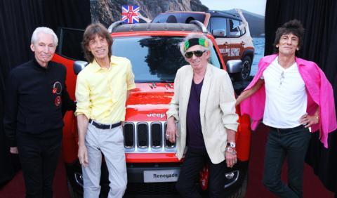 A subasta un Jeep Renegade firmado por los Rolling Stones