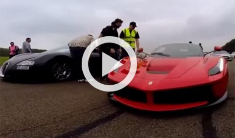 Bugatti Veyron vs Ferrari LaFerrari, ¡hagan sus apuestas!