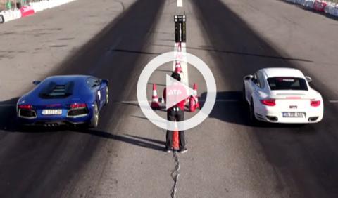 Vídeo: Aventador vs 911 Turbo, ¿cuál acelerará más rápido?