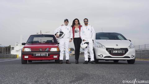 Fernando Guillén Cuervo, Lara Álvarez y Jesús Castro presentación 208 Gti 30th