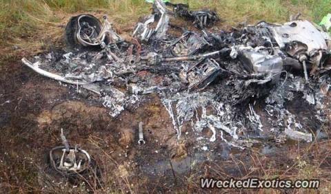 Un Lamborghini Huracán destrozado, a la venta