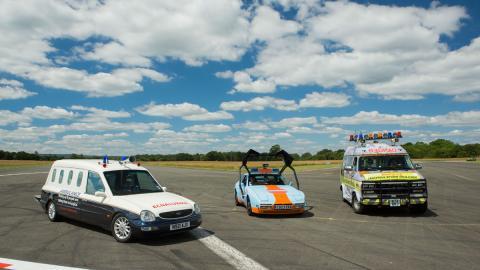 Las ambulancias que probó Top Gear, al museo Beaulieu