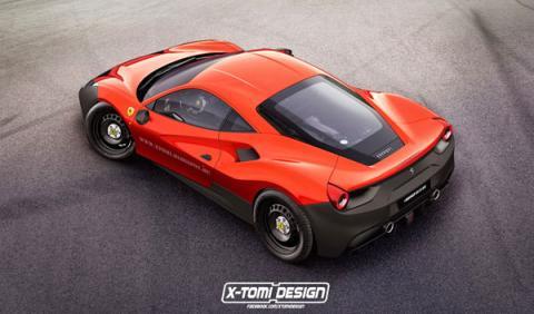 Ferrari 488 GTB plastico