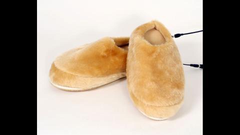 Zapatillas de estar en casa con USB