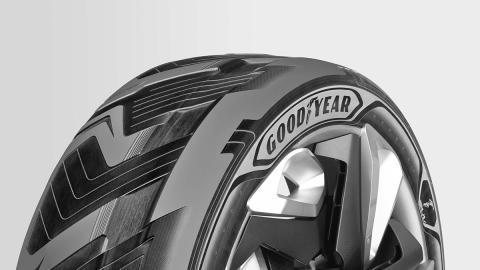 Detalle del neumático prototipo de Goodyear BH03
