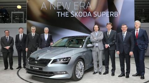 Skoda Superb 2015 Ginebra presentacion