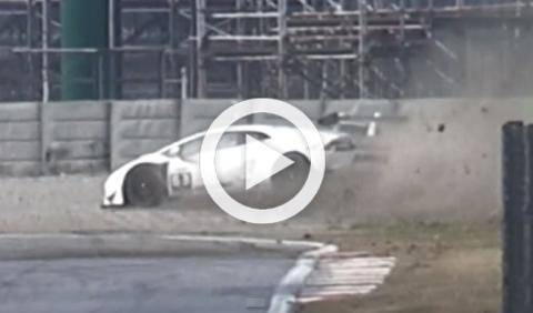 Vídeo: espectacular accidente de un Huracán Super Trofeo