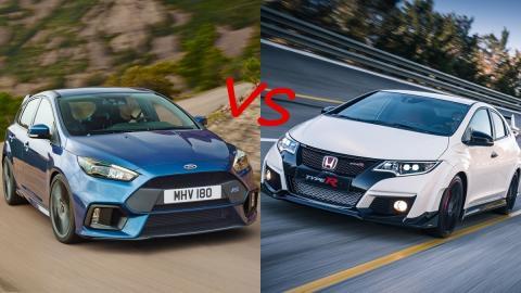 ¿Cuál es mejor, el Focus RS o el Honda Civic Type R 2015?