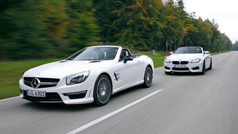 BMW M6 Cabrio vs. Mercedes SL 63 AMG