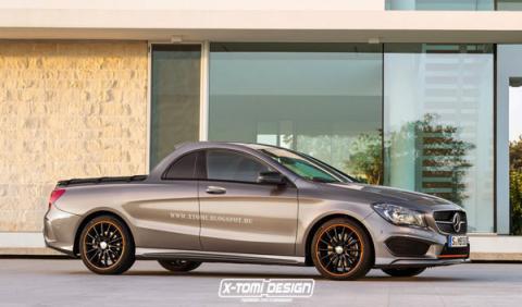 ¿Uno más? Así podría ser el Mercedes CLA pick-up