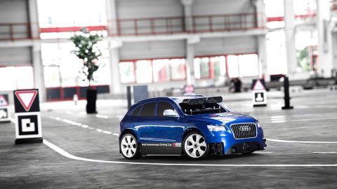 Competición Audi a escala