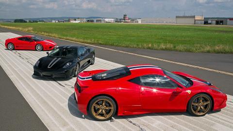 Tres Ferrari de ensueño: 458 Speciale, 430 Scuderia, 360 Challenge Stradale
