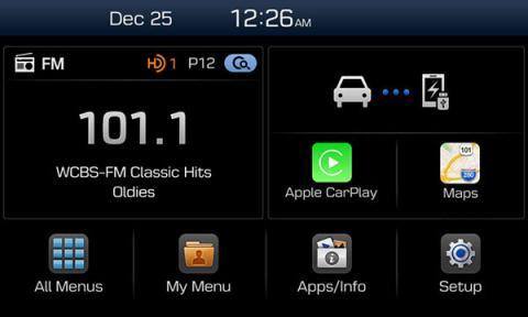 Apple Car Play integrado en el sistema de conectividad Hyundai