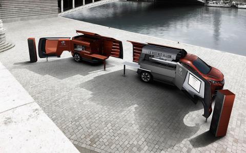 FoodTruck Peugeot, restaurante por dentro