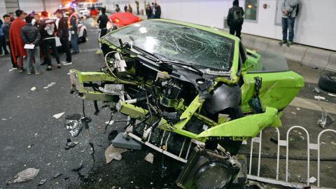 accidente lamborghini ferrari china pekin
