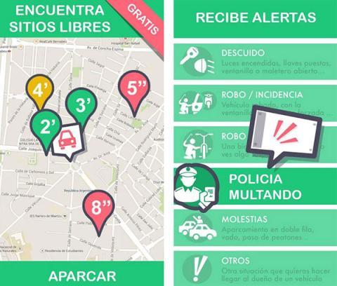 Wazypark, aplicación que ayuda a aparcar