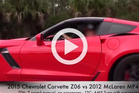 Corvette Z06 2015, humillado por el McLaren AMS MP4-12C