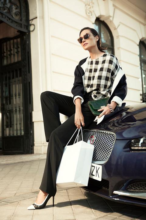 Juncal Rivero personal shopper en Madrid con Jaguar