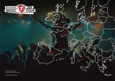 Mapa Firestone Music Tour