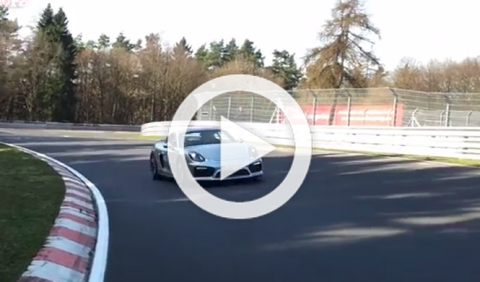 Vuelta rápida a Nürburgring con un Porsche Cayman GT4