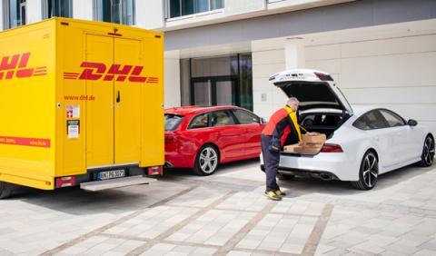 Los envíos de Amazon se entregan en el maletero de los Audi