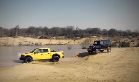 Vídeo: Mercedes G500 4x4 2 'vs' Ford Raptor