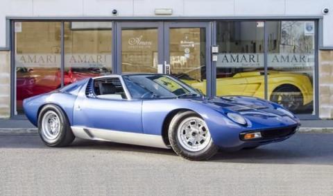 1,7 millones por un Lamborghini Miura de Rod Stewart