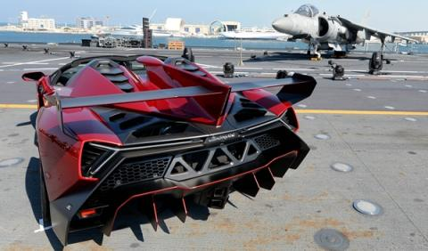 Un Lamborghini Veneno Roadster llega a Gibraltar