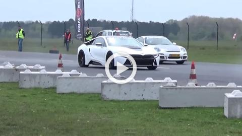 Manhart BMW i8 destroza a un Mercedes C63 y al 911 GT3 RS