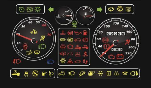 simbolos salpicadero coche