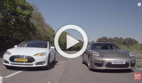 'Drag race': Tesla Model S P85D vs. Porsche Panamera