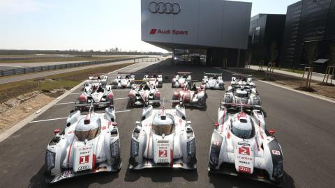 Audi reúne a sus 13 coches ganadores en Le Mans