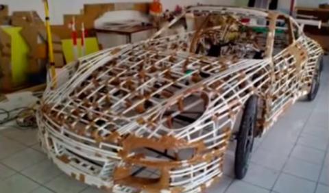 Construye un Porsche 911 con piezas de bicicleta