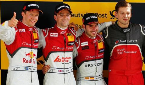 Podio DTM Lausitzring carrera 2 2015