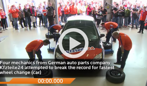 Menos de 1 minuto: el cambio de ruedas más rápido del mundo