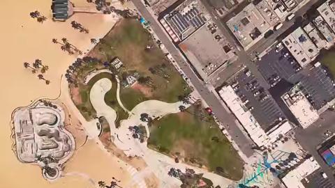 Vespucci Beach y sus alrededores en la recreación de GTA V