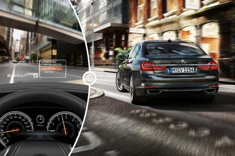 El Head-Up Display del BMW Serie 7