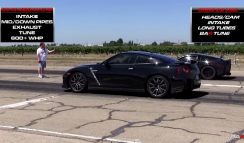 Nissan GT-R vs. Corvette Z06, ¿quién gana?