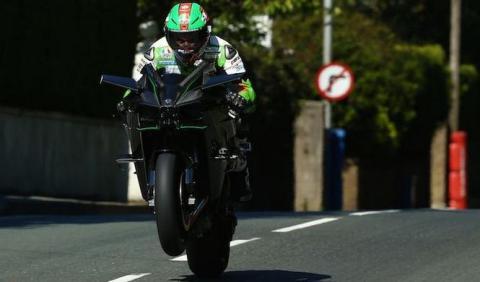 Kawasaki Ninja H2R a 331 km/h en el Tourist Trophy