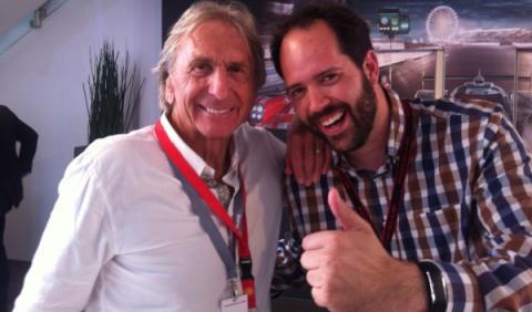 Rodrigo Fersainz con Derek Bell en Le Mans 2015