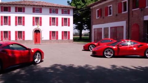Ferrari 488 GTB en la fábrica de Ferrari