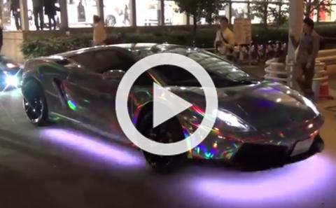 Cuidado, este Lamborghini Gallardo te podría dejar ciego