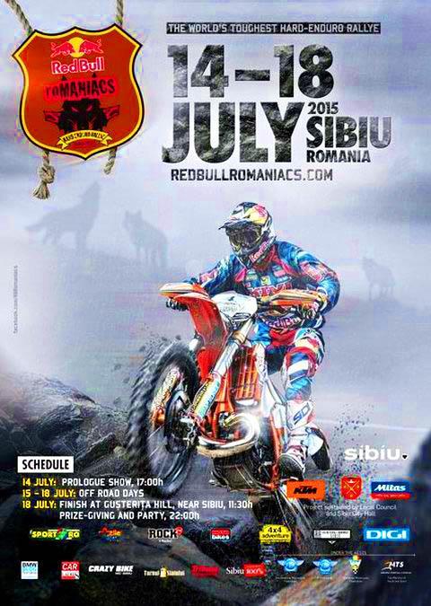 Red Bull Romaniacs enduro poster