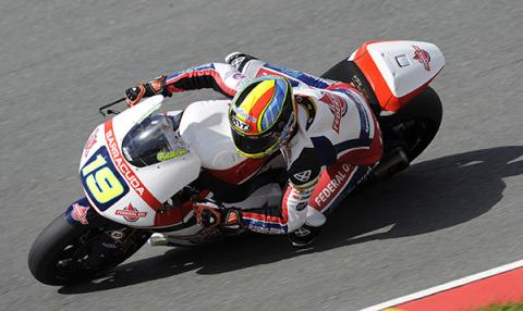 Carrera Moto2 GP de Alemania 2015: Simeon bate a Zarco