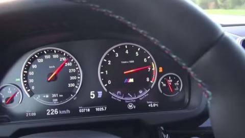 Así acelera un BMW X5 M de 0 a 240 km/h: ¡bestial!