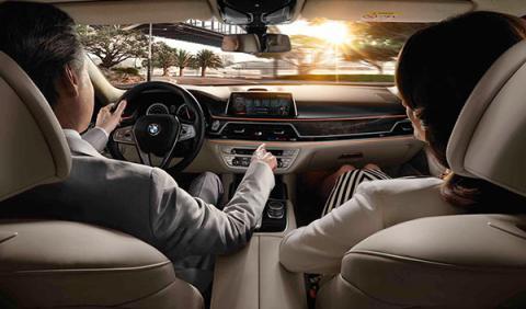 BMW serie 7 control por gestos